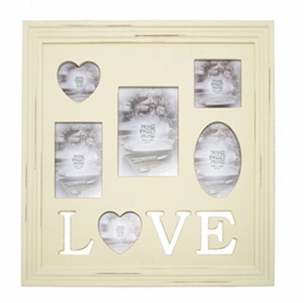 Shabby Chique Love Photo Frame Wall Collage, Home Sweet Home Range